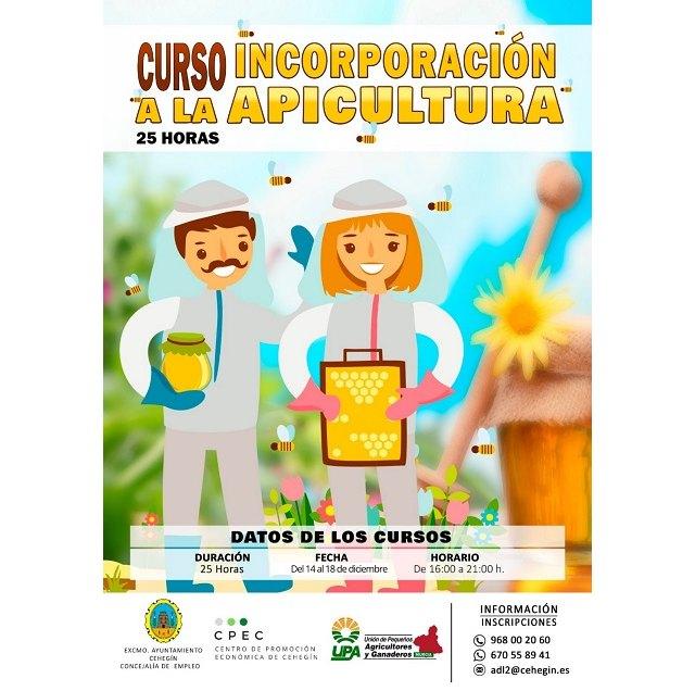 Se retoma el curso de apicultura de UPA y el Ayuntamiento de Cehegín - 1, Foto 1