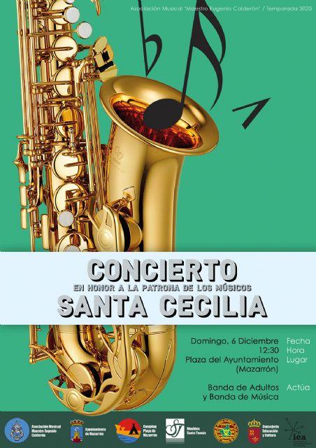 La Banda de Música de Mazarrón celebra el concierto de Santa Cecilia - 1, Foto 1