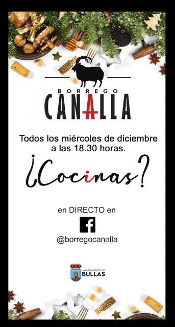 El Ayuntamiento de Bullas te invita a cocinar con Borrego Canalla - 1, Foto 1