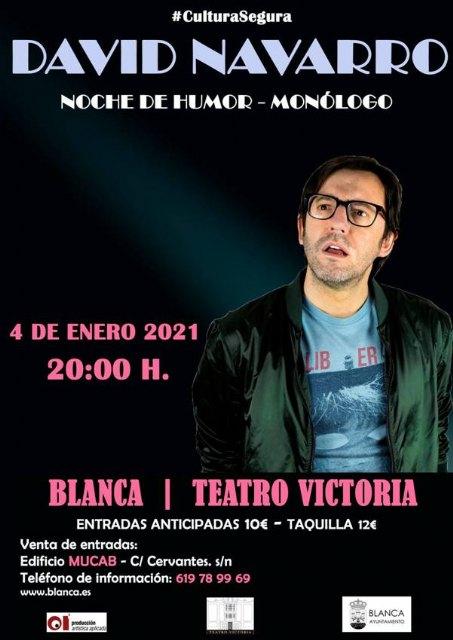 David Navarro llega a la programación extraordinaria del teatro Victoria de Blanca - 1, Foto 1