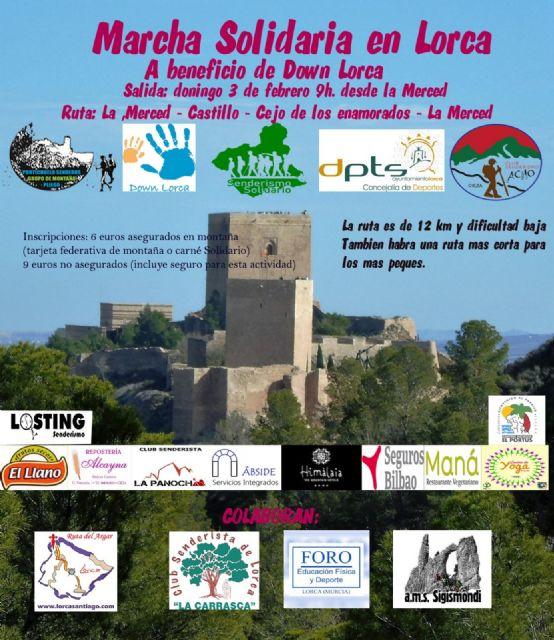 La Asociación Senderismo Solidario celebrará el próximo domingo una marcha solidaria al Cejo de los Enamorados a favor de  Down Lorca - 1, Foto 1