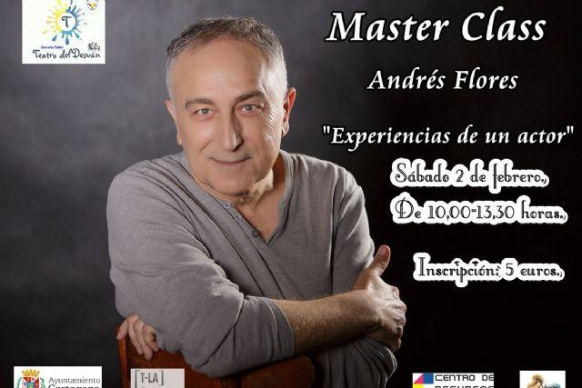 El actor ilicitano Andrés Flores impartirá la master class ´Experiencias dentro de un actor´ dentro del programa T-La - 1, Foto 1