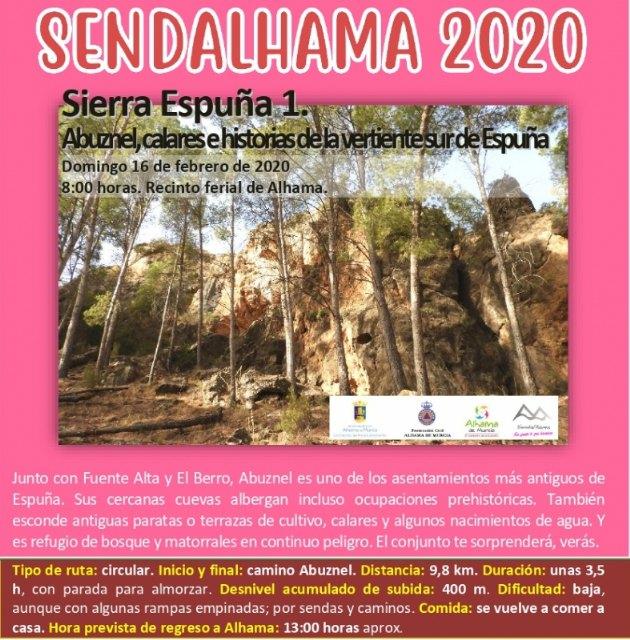 Apertura del plazo de inscripción para las rutas n° 1 y n° 2 de Sendalhama 2020 - 1, Foto 1