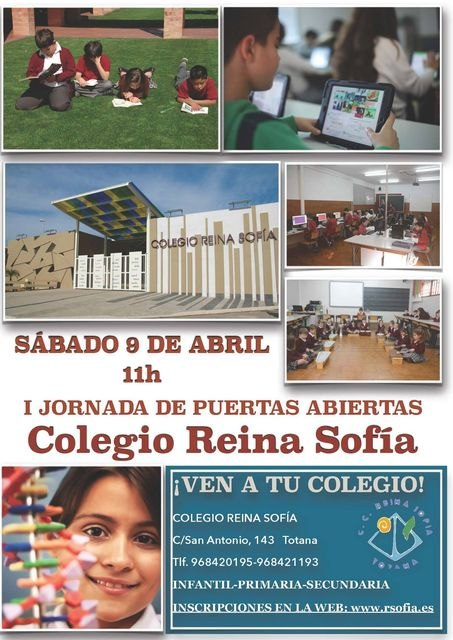 The school Reina Sofia organizes an open day on Saturday April 9, Foto 1