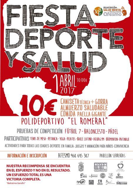 El Ayuntamiento de Molina de Segura y la Asociación AFESMO organizan la quinta edición de la Fiesta Deporte y Salud el sábado 1 de abril - 1, Foto 1