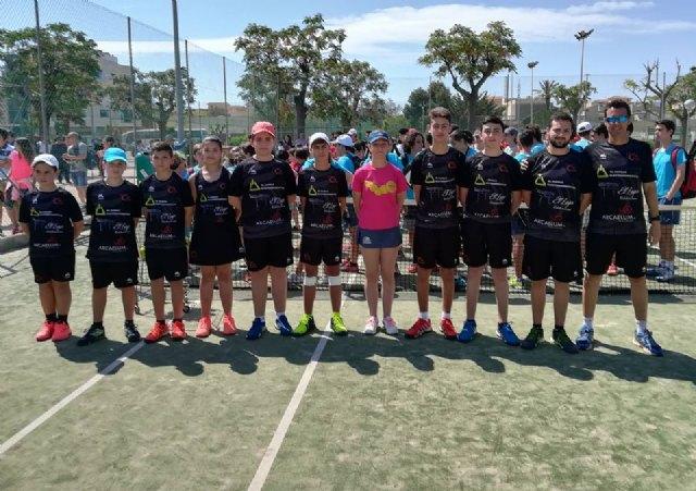 Victoria del equipo del C.T. Totana contra la Escuela de Tenis Kuore y el Club de Tenis Mazarrón