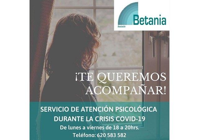 Betania presta apoyo psicológico a través de sus profesionales - 1, Foto 1