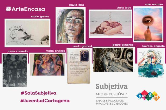 La Sala Subjetiva ofrece visitas online a las exposiciones de jóvenes artistas cartageneros - 1, Foto 1