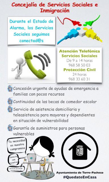 Durante el Estado de Alarma, los Servicios Sociales siguen conectados - 1, Foto 1