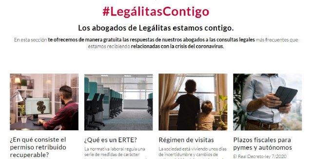 Legálitas habilita un espacio online para dar respuesta a todas las dudas legales relacionadas con el coronavirus - 1, Foto 1