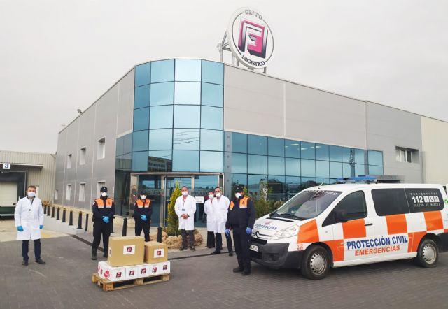 Grupo Fuentes dona para los servicios públicos 1.000 mascarillas, 3.000 guantes y 200 botes de gel hidroalcohólico - 1, Foto 1