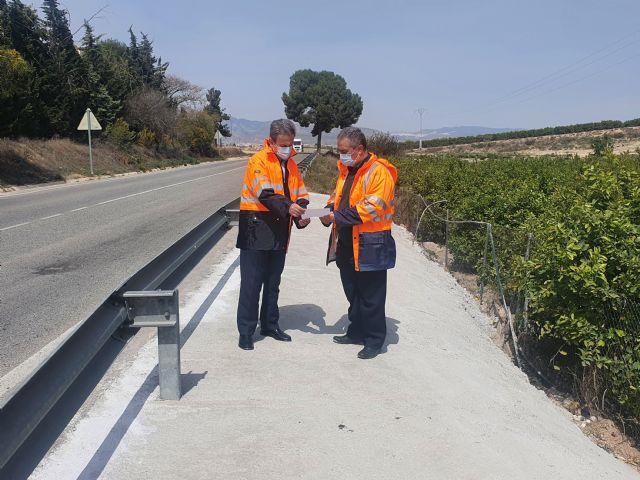 Fomento mejora la seguridad de la carretera que comunica los municipios de Murcia y Fortuna - 1, Foto 1