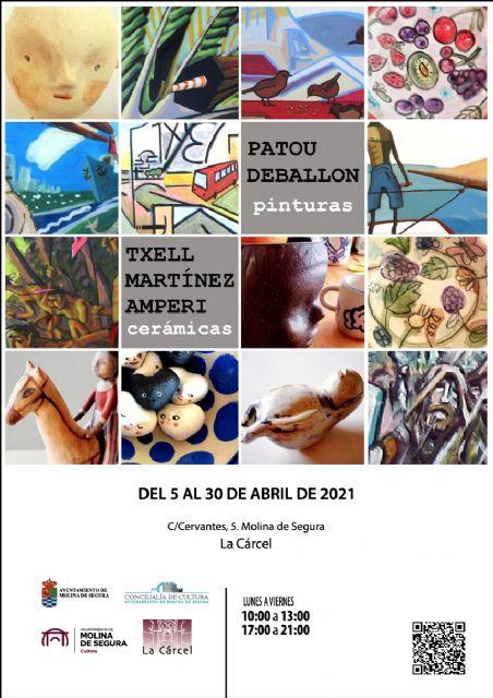 La Sala de Exposiciones La Cárcel de Molina de Segura acoge la exposición de cerámicas de Txell Martínez y pinturas de Patou Deballon, del 5 al 30 de abril - 3, Foto 3