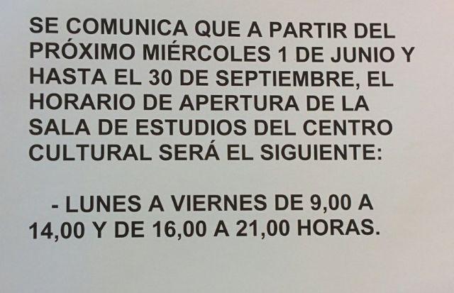 PSOE y JJSS Lorca denuncian nuevo recorte en el horario de apertura de las salas de estudio - 1, Foto 1