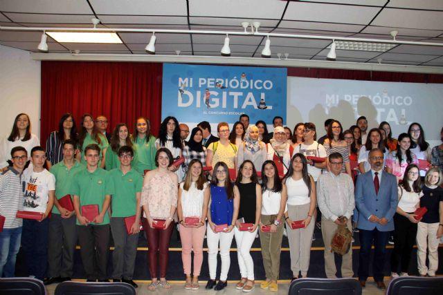 Estudiantes de doce centros de la Región se dan cita en Caravaca en la final del concurso 'Mi periódico digital' - 1, Foto 1