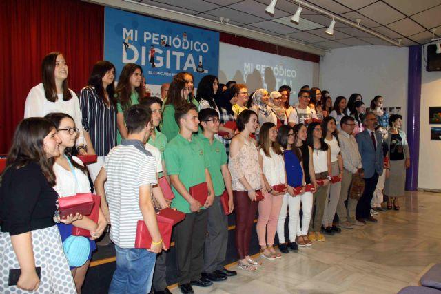 Estudiantes de doce centros de la Región se dan cita en Caravaca en la final del concurso 'Mi periódico digital' - 2, Foto 2