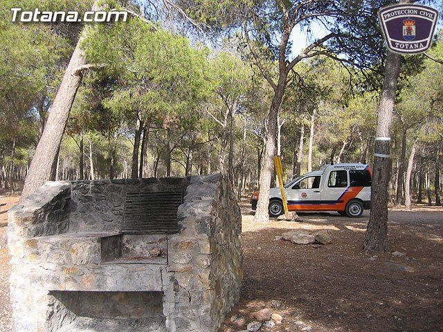 From today it is strictly forbidden to carry out fires in the barbecues enabled in the Regional Park of Sierra Espuña