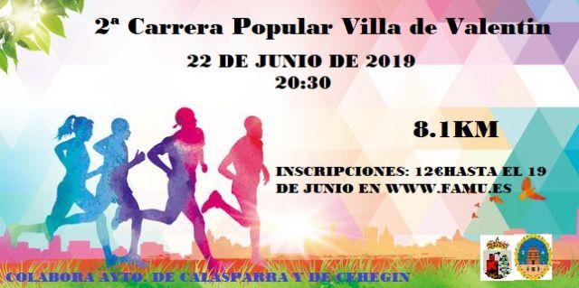 El sábado 22, II Carrera Popular Villa de Valentín - 1, Foto 1