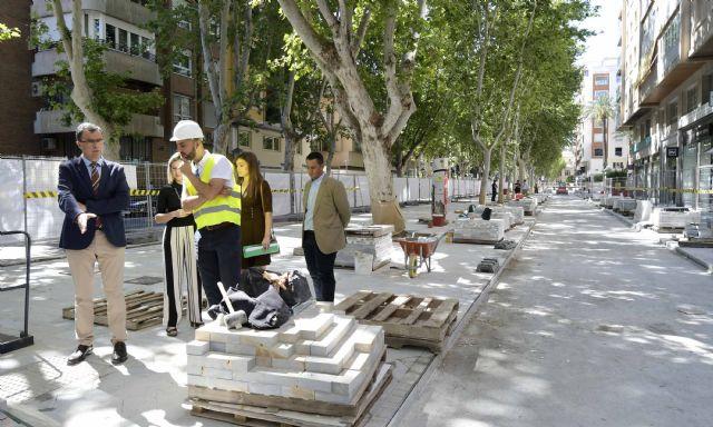 Las obras de peatonalización de Alfonso X hasta La Circular, a pleno rendimiento - 1, Foto 1