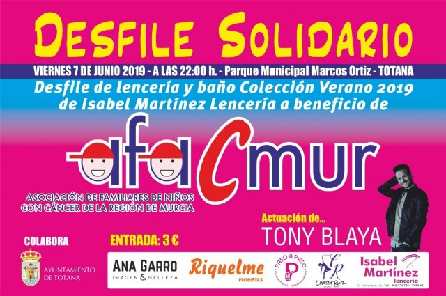 "The municipal park ""Marcos Ortiz"" hosts on June 7 the 6th Solidarity Parade of Lingerie and Bath for the benefit of Afacmur"