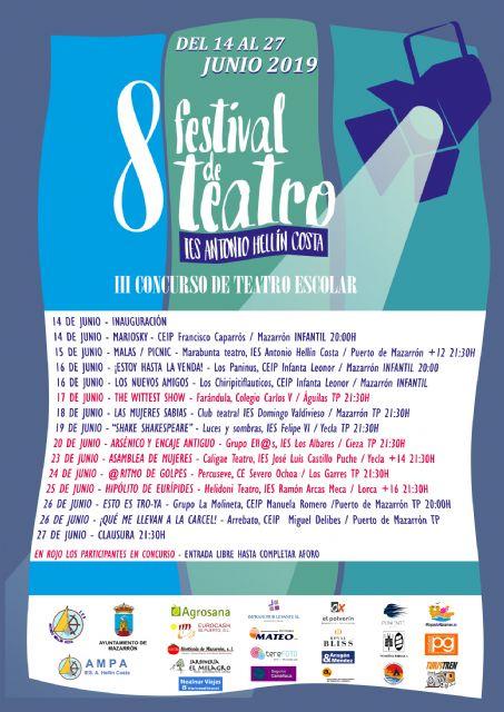 300 actores de 12 centros educativos participarán en el VIII Festival de Teatro del IES Antonio Hellín Costa - 2, Foto 2