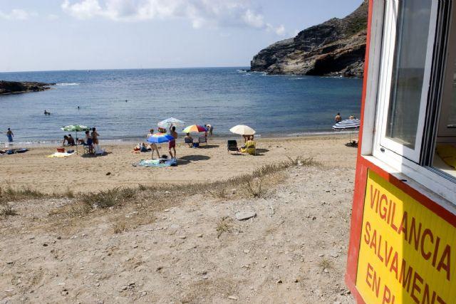 Cala Reona se mantiene cerrada durante las obras de emergencia del nuevo colector - 1, Foto 1
