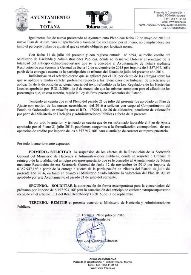 Los fallidos Planes de Ajuste del PP en 2012 y 2013, costarán 35 millones de euros a los totaneros - 2, Foto 2