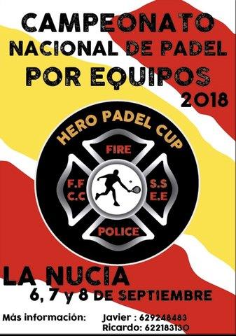 Murcia FFCCSS volverá a competir en el Campeonato Nacional de Pádel de Fuerzas y Cuerpos de Seguridad HEROPADELCUP - 1, Foto 1