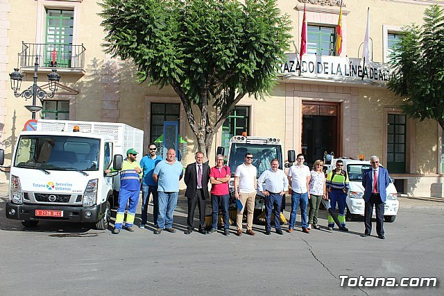 The new machinery acquired by the concessionaire of the street cleaning and urban solid waste collection service is presented