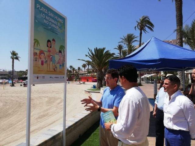 Salud reivindica en San Javier el valor medioambiental de la iniciativa ´Playas sin humo´ - 1, Foto 1