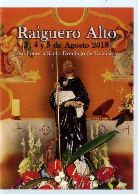 Las fiestas de El Raiguero Alto, en honor a Santo Domingo de Guzmán, se celebran este próximo fin de semana