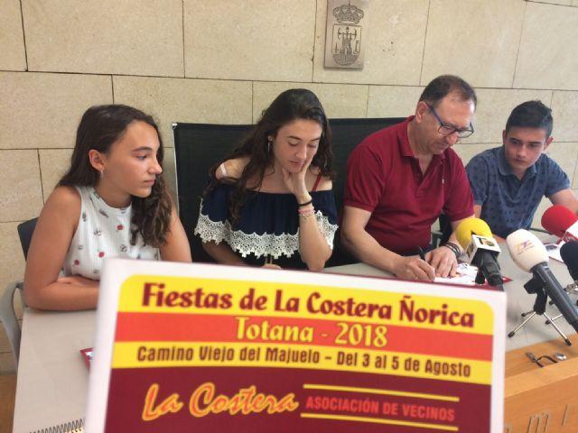 Las fiestas de La Costera Ñorica se celebrarán el próximo fin de semana, del 3 al 5 de agosto, en el Camino Viejo del Majuelo, organizadas por la Asociación de Vecinos de esta diputación