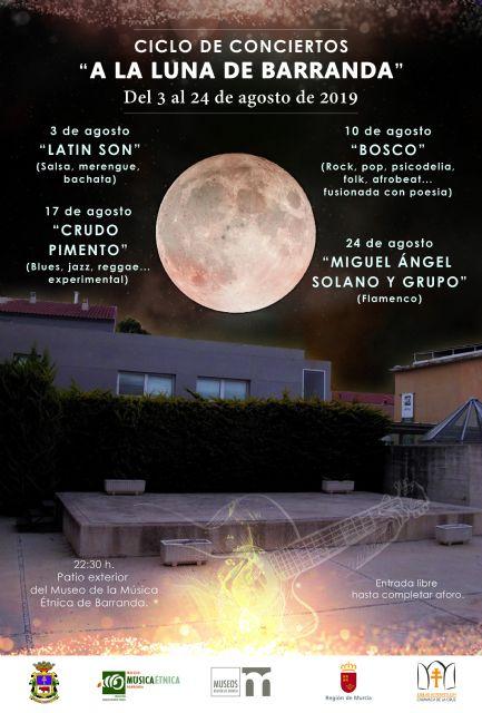 El ciclo 'A la luna de Barranda' comienza este sábado con ritmos de la música latina - 1, Foto 1
