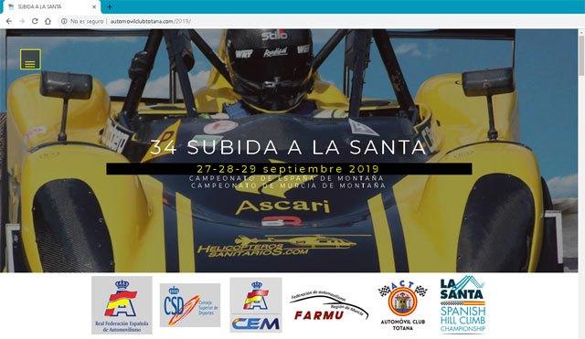 Se inaugura la web oficial de la 34º Subida a la Santa