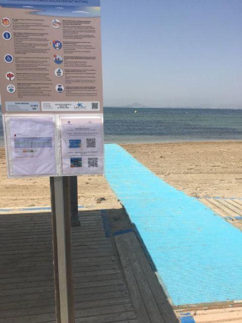 El Ayuntamiento de San Javier certifica 14 playas con el sello Safe Tourism que concede el Instituto para la Calidad Turística Española frente a la COVID-19 - 1, Foto 1