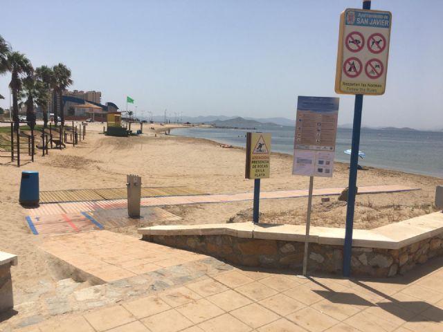 El Ayuntamiento de San Javier certifica 14 playas con el sello Safe Tourism que concede el Instituto para la Calidad Turística Española frente a la COVID-19 - 2, Foto 2