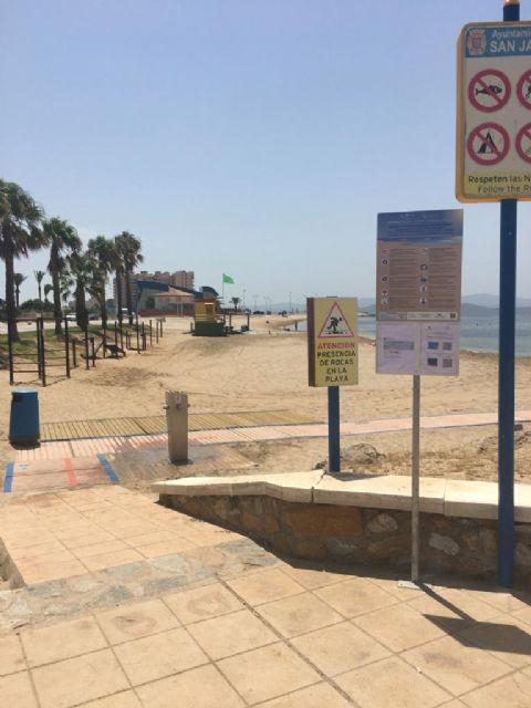 El Ayuntamiento de San Javier certifica 14 playas con el sello Safe Tourism que concede el Instituto para la Calidad Turística Española frente a la COVID-19 - 3, Foto 3
