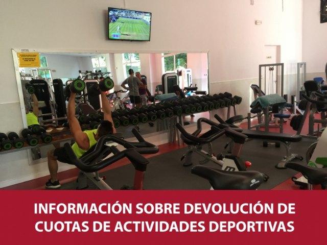 Información sobre devolución de cuotas de actividades deportivas suspendidas, Foto 1