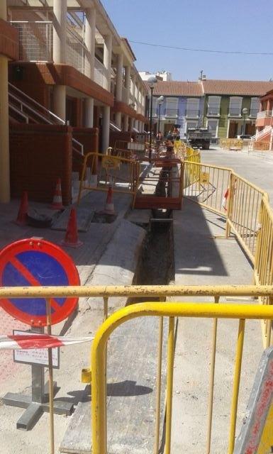 Aguas de Jumilla renueva tuberías en calles Molino de Vapor y Trabajo - 2, Foto 2