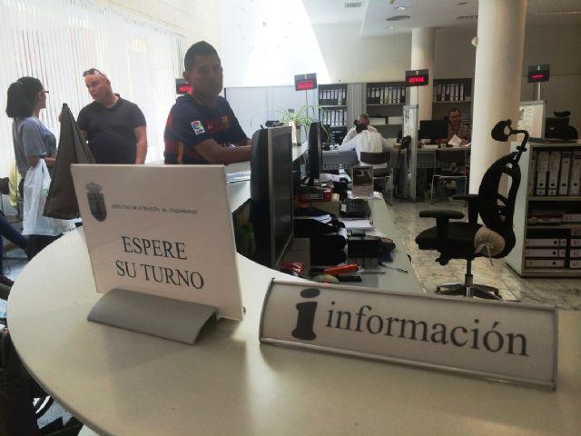Se restablece el horario del Servicio de Atención al Ciudadano del Ayuntamiento a partir de mañana, de 9:00 a 14:00 horas, respectivamente