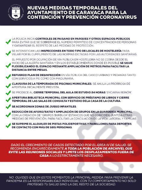 El Ayuntamiento de Caravaca celebra una Junta de Gobierno Local para poner en marcha nuevas medidas de prevención y contención de la pandemia - 2, Foto 2