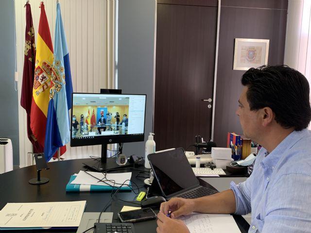 El alcalde se reúne con los pedáneos, los portavoces municipales y con el presidente López Miras y el resto de alcaldes de la Región para abordar la evolución del COVID 19 - 2, Foto 2