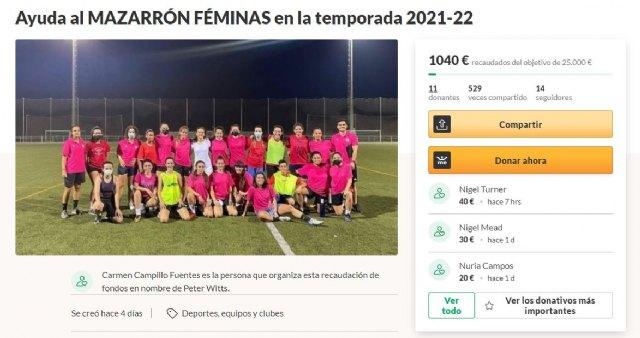 Un equipo de fútbol femenino de Mazarrón lanza un crowdfunding para desarrollar un club deportivo - 1, Foto 1