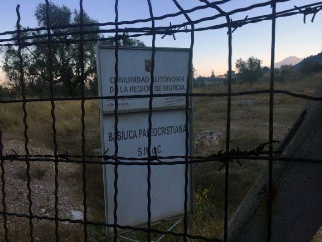 Cs exige la ejecución inmediata de la partida presupuestaria de 2016 para la recuperación del entorno de la Basílica de Algezares - 1, Foto 1