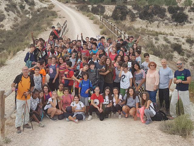 90 Alumnos del IES Floridablanca de Murcia realizan una reforestación en la Vía Verde - 1, Foto 1
