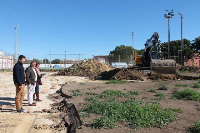 Comienzan las obra del Campo de Fútbol en el Polideportivo Municipal - 1, Foto 1