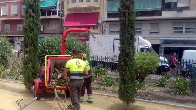 Parques y Jardines mantiene el 'ciclo verde' utilizando triturado de poda en más de 500 jardines del municipio - 2, Foto 2