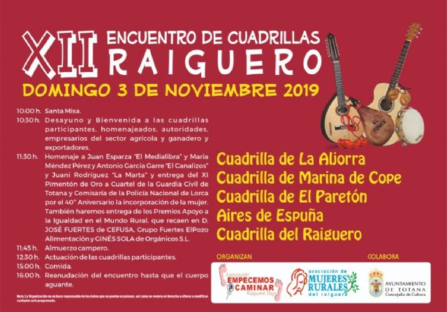 The XII Meeting of Raiguero Gangs is held this Sunday