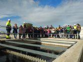 """Alumnos del CEIP """"Fulgencio Ruiz"""" visitan la estación depuradora de San Javier"""