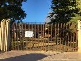 Se cierra el parque municipal para evitar accidentes como consecuencia de los efectos del fuerte viento